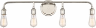 Quoizel MNO8604IS Menlo Contemporary Imperial Silver 4-Light Bath Lighting Fixture