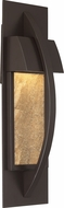 Quoizel MNT8405WT Monument Contemporary Western Bronze LED Outdoor Wall Light Sconce