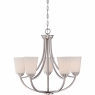 Quoizel MOR5005ES Morro Empire Silver Finish 23.5  Tall Chandelier Light