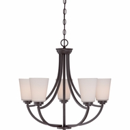 Quoizel MOR5005WT Morro Western Bronze Finish 25  Wide Ceiling Chandelier