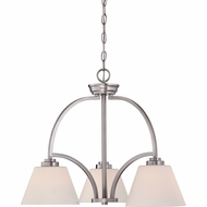 Quoizel MOR5103ES Morro Empire Silver Finish 24  Tall Mini Hanging Chandelier