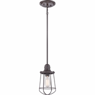 Quoizel MRE1506WT Marine Nautical Western Bronze Finish 12  Tall Mini Pendant Lighting Fixture