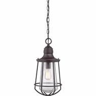 Quoizel MRE1909WT Marine Nautical Western Bronze Finish 9.5  Wide Outdoor Mini Hanging Pendant Lighting