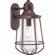 Quoizel MRE8409WT Marine Nautical Western Bronze Finish 17.5  Tall Exterior Wall Sconce Lighting
