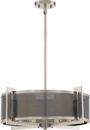 Quoizel MTP2823AN Metropolis Contemporary Antique Nickel Drum Drop Ceiling Lighting