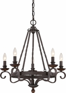 Quoizel NBE5005RK Noble Traditional Rustic Black Chandelier Lamp