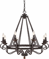 Quoizel NBE5008RK Noble Traditional Rustic Black Chandelier Light