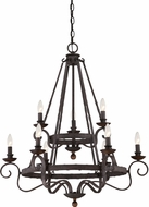 Quoizel NBE5009RK Noble Traditional Rustic Black Ceiling Chandelier
