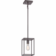 Quoizel NHR1506WT New Harbor Vintage Western Bronze Finish 11  Tall Mini Hanging Pendant Light