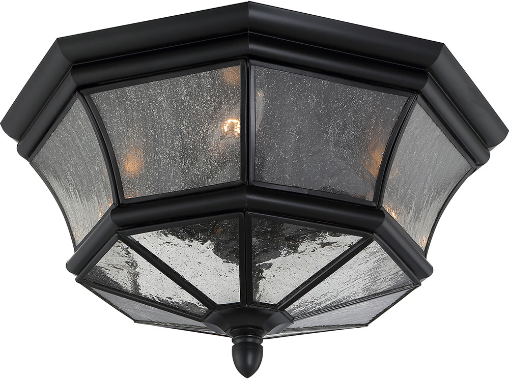 Quoizel NY1615K Newbury Mystic Black Outdoor Ceiling Light Fixture QUO NY1615K