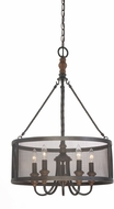 Quoizel ODL2820IB Odell Imperial Bronze Drum Drop Ceiling Light Fixture
