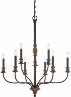 Quoizel ODL5009IB Odell Imperial Bronze Chandelier Lamp