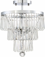 Quoizel PCAM1713C Platinum Collection Amore Contemporary Polished Chrome Ceiling Light Fixture