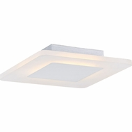 Quoizel PCAW1611W Platinum Collection Aglow Contemporary White Lustre LED 11  Flush Mount Light Fixture