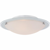 Quoizel PCBV1617C Platinum Collection Bravado Polished Chrome Finish 5  Tall Flush Mount Light Fixture