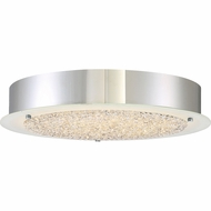 Quoizel PCBZ1616C Platinum Collection Blaze Modern Polished Chrome LED 16  Flush Mount Ceiling Light Fixture