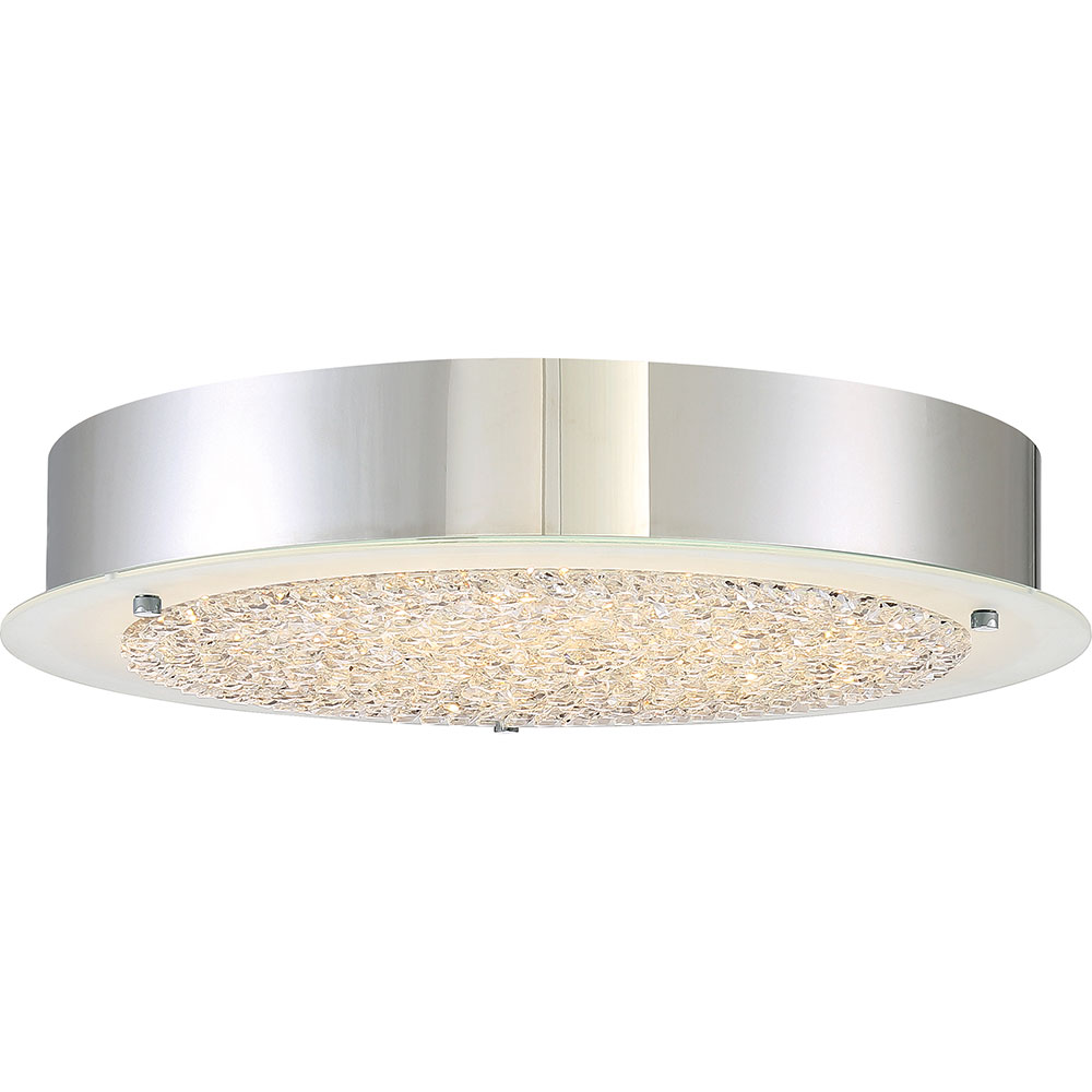 Quoizel pcbz1616c platinum collection blaze modern for Modern flush mount ceiling light fixtures