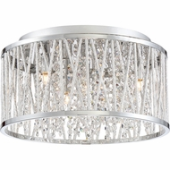 Quoizel PCCC1614C Platinum Collection Crystal Cove Polished Chrome Xenon Home Ceiling Lighting