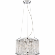 Quoizel PCCC1814C Platinum Collection Crystal Cove Polished Chrome Xenon Drum Drop Lighting