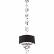 Quoizel PCCS2816C Platinum Collection Cascade Contemporary Polished Chrome Finish 16  Wide Drum Ceiling Light Pendant