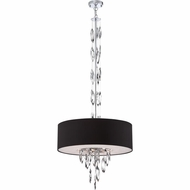 Quoizel PCCS2824C Platinum Collection Cascade Contemporary Polished Chrome Finish 24  Wide Drum Drop Ceiling Light Fixture