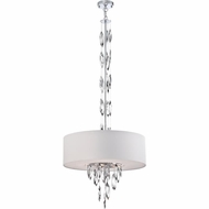 Quoizel PCCS2824C1 Platinum Collection Cascade Modern Polished Chrome Finish 19  Tall Drum Drop Lighting Fixture