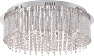 Quoizel PCCT1623C Platinum Collection Countess Polished Chrome Xenon Flush Ceiling Light Fixture