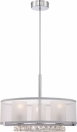 Quoizel PCJL2820C Platinum Collection Janelle Polished Chrome Incandescent / LED Drum Hanging Light