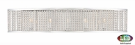 Quoizel PCLC8605CLED Platinum Collection Lacombe Modern Polished Chrome LED 26 Bathroom Lighting Fixture