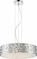 Quoizel PCMY2818C Platinum Collection Mercury Contemporary Polished Chrome Xenon Drum Pendant Light