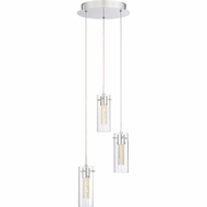 Quoizel PCRD1812C Platinum Collection Radiance Polished Chrome LED Multi Hanging Light