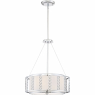 Quoizel PCSN2817C Platinum Collection Sylvan Polished Chrome Xenon Drum Pendant Light Fixture
