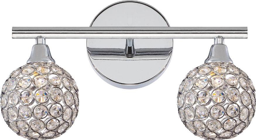 Chrome Bath Lighting Fixtures: Quoizel PCSR8602C Platinum Collection Shimmer Polished