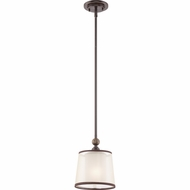 Quoizel PLR1508PN Palmer Palladian Bronze Finish 8  Wide Mini Pendant Hanging Light