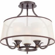 Quoizel PLR1716PN Palmer Palladian Bronze Finish 14.5  Tall Flush Mount Light Fixture