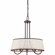 Quoizel PLR2820PN Palmer Palladian Bronze Finish 20  Wide Hanging Light Fixture