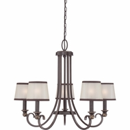 Quoizel PLR5005PN Palmer Palladian Bronze Finish 21  Tall Mini Lighting Chandelier
