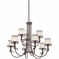 Quoizel PLR5009PN Palmer Palladian Bronze Finish 31  Wide Chandelier Lamp