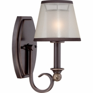 Quoizel PLR8701PN Palmer Palladian Bronze Finish 12  Tall Wall Lighting Sconce