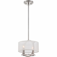 Quoizel PTD1509BN Portland Brushed Nickel Finish 10.5  Wide Mini Drop Lighting
