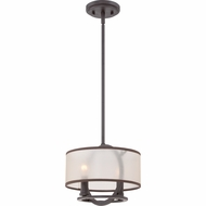Quoizel PTD1509WT Portland Western Bronze Finish 9.5  Tall Mini Drop Ceiling Lighting