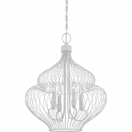 Quoizel QF1676W Rucker Modern Fresco Finish 27  Tall Mini Chandelier Light