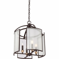 Quoizel QF1680WT Coronado Western Bronze Finish 17.5  Wide Mini Ceiling Chandelier