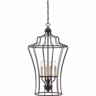 Quoizel QF1685WT Ellie Western Bronze Finish 18  Wide Mini Chandelier Light