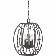 Quoizel QF1686IB Regina Imperial Bronze Finish 18.5  Tall Mini Chandelier Lighting
