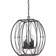 Quoizel QF1687IB Regina Imperial Bronze Finish 17  Wide Mini Lighting Chandelier