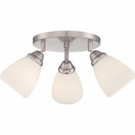 Quoizel QF1778SBN Brushed Nickel Finish 9  Tall Flush Mount Ceiling Light Fixture