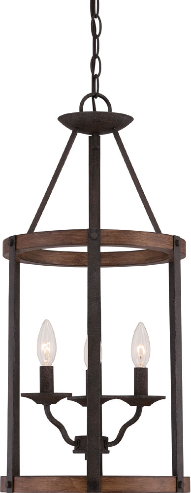 Quoizel QF1840RK Rustic Black Entryway Light Fixture QUO QF1840RK