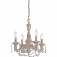 Quoizel QMC1681AY Hope Traditional Antique Ivory Finish 16  Tall Mini Chandelier Lamp