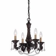 Quoizel QMC1681PN Hope Traditional Palladian Bronze Finish 15  Wide Mini Chandelier Light